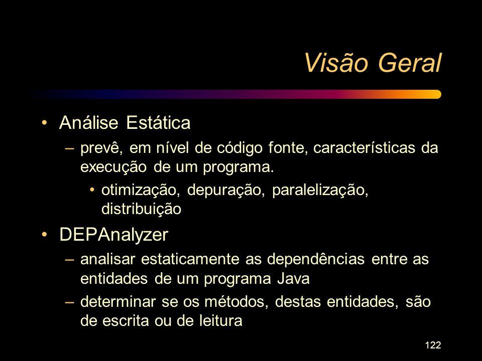 Visão Geral Análise Estática DEPAnalyzer