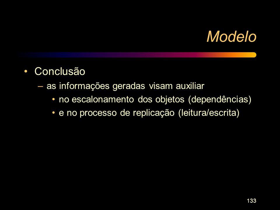 Modelo Conclusão as informações geradas visam auxiliar