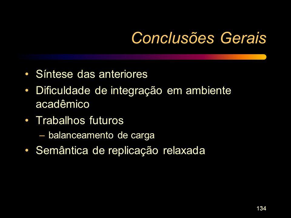Conclusões Gerais Síntese das anteriores
