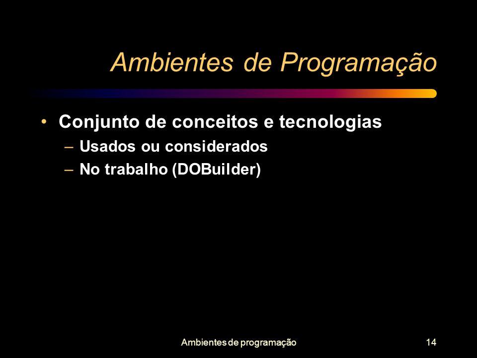 Ambientes de Programação