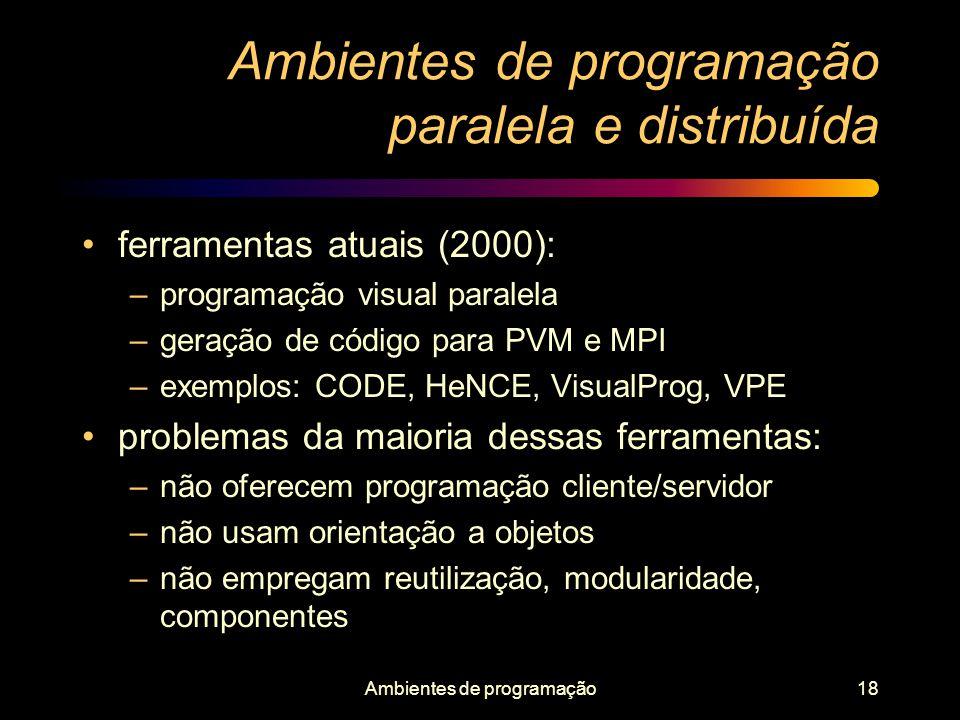 Ambientes de programação paralela e distribuída