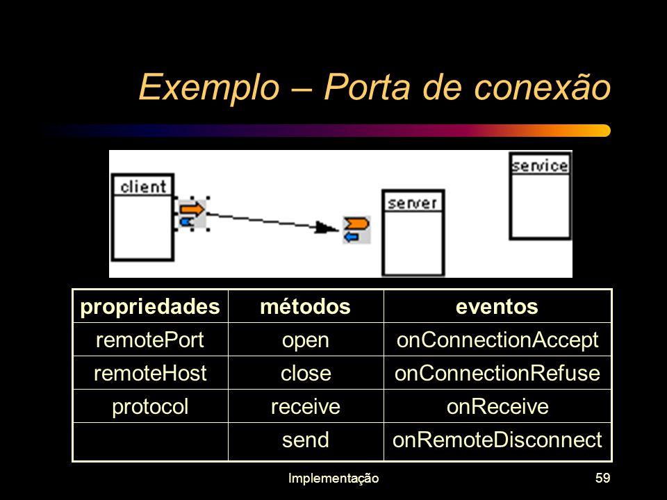 Exemplo – Porta de conexão