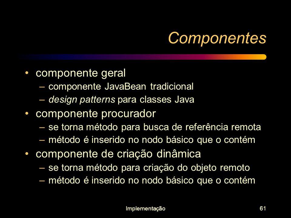 Componentes componente geral componente procurador