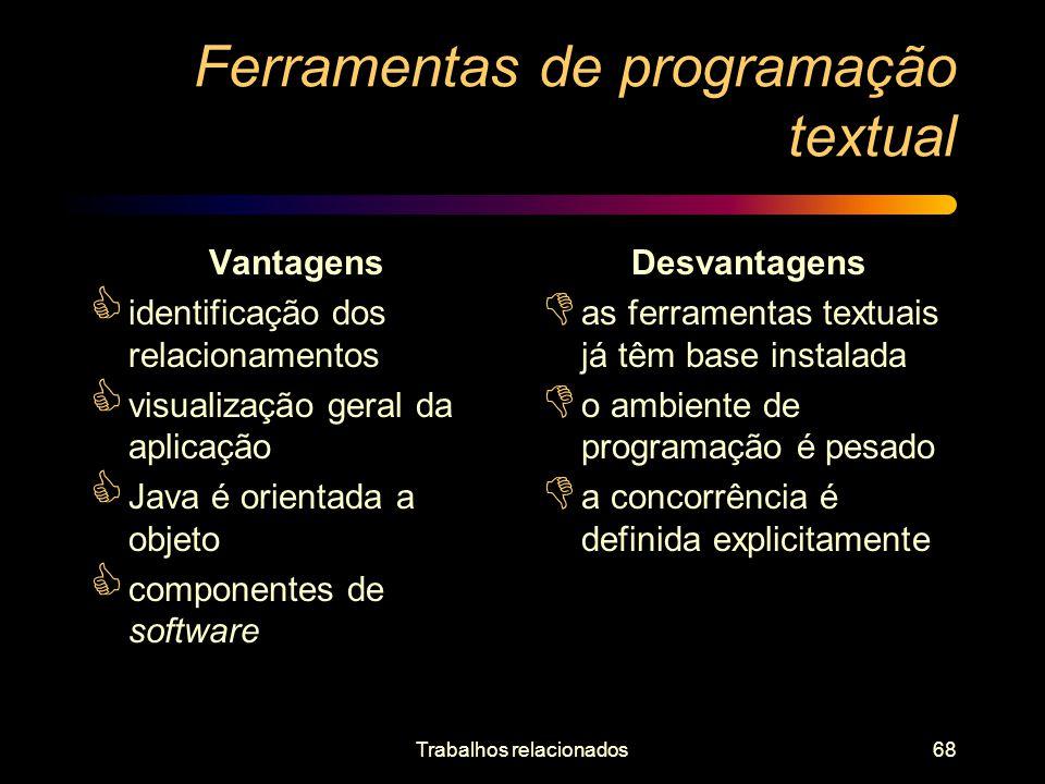 Ferramentas de programação textual