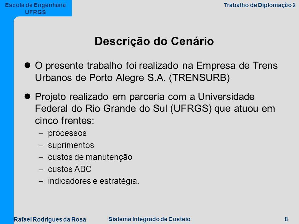 Descrição do Cenário O presente trabalho foi realizado na Empresa de Trens Urbanos de Porto Alegre S.A. (TRENSURB)