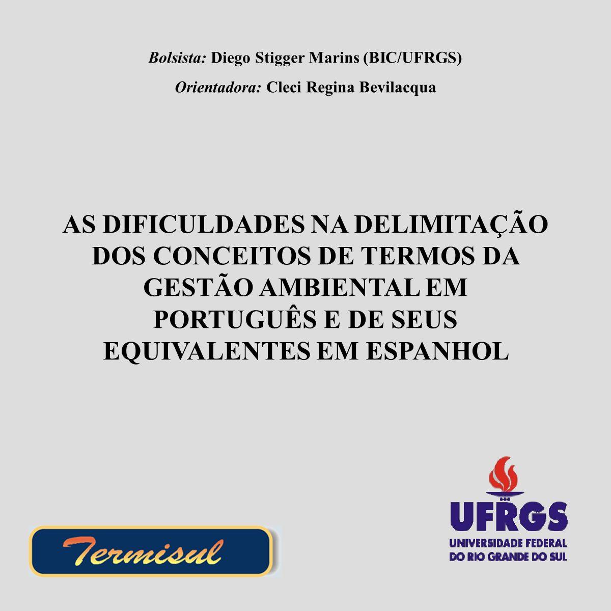Bolsista: Diego Stigger Marins (BIC/UFRGS)