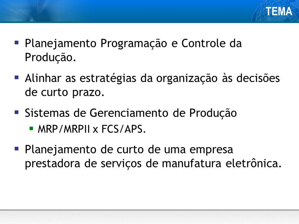 Planejamento Programação e Controle da Produção.