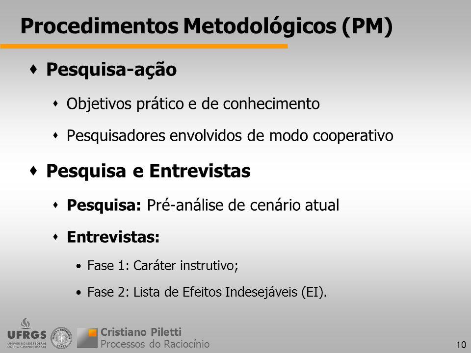 Procedimentos Metodológicos (PM)