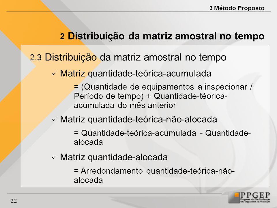 Matriz quantidade-teórica-acumulada
