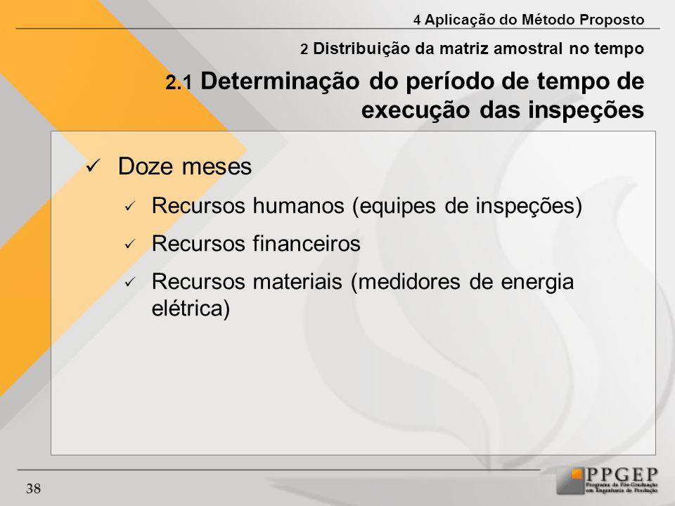 Doze meses Recursos humanos (equipes de inspeções)