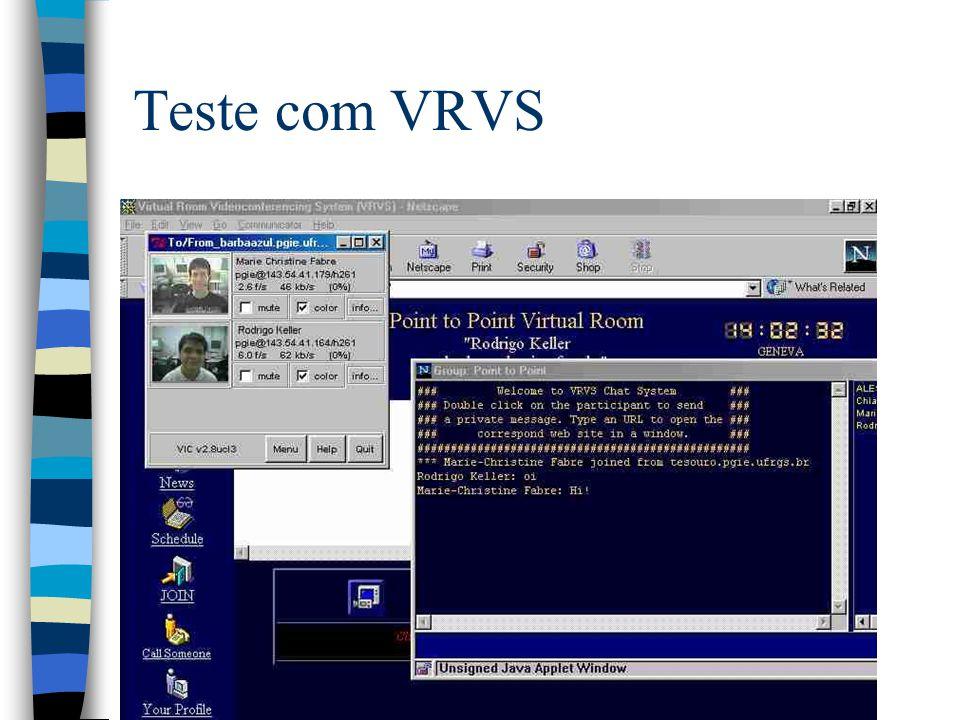 Teste com VRVS