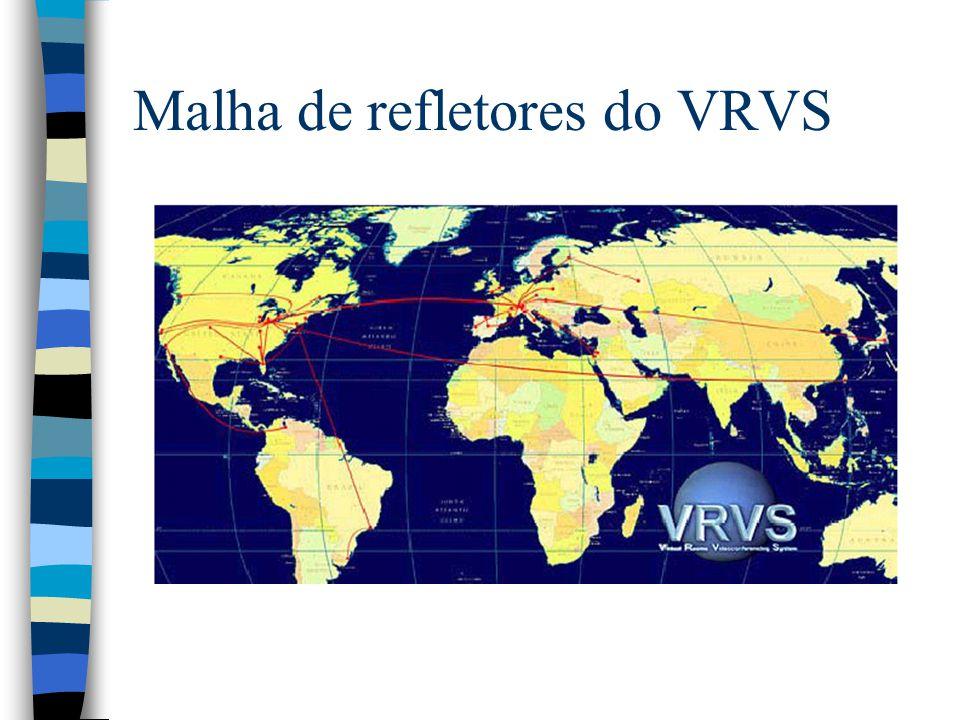 Malha de refletores do VRVS