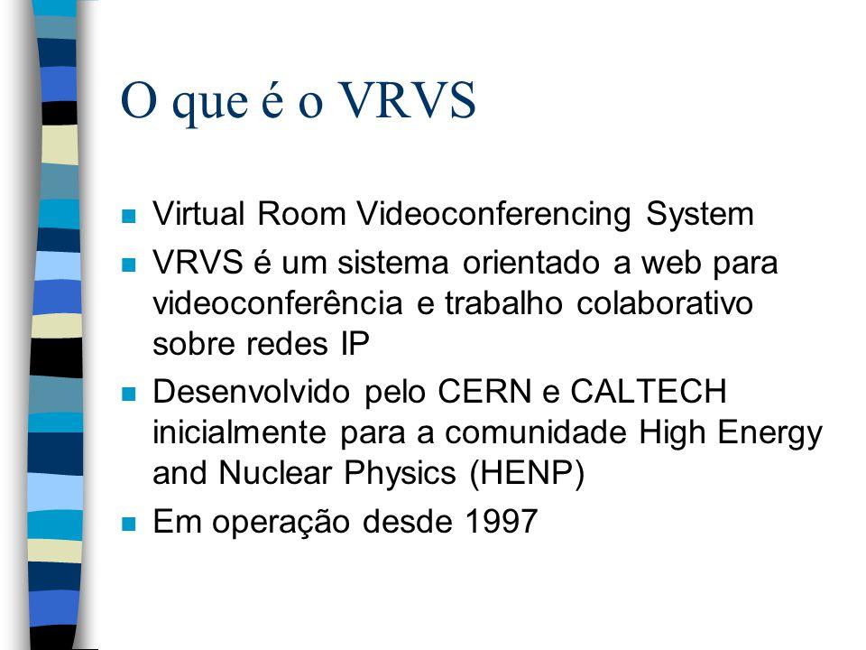O que é o VRVS Virtual Room Videoconferencing System