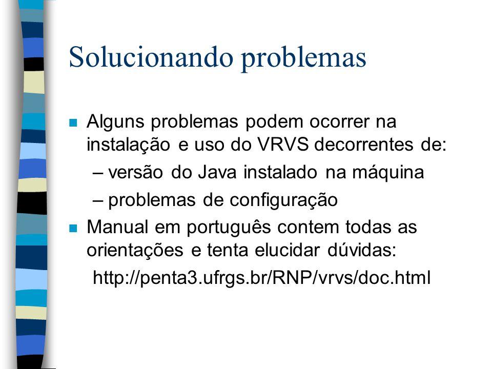 Solucionando problemas