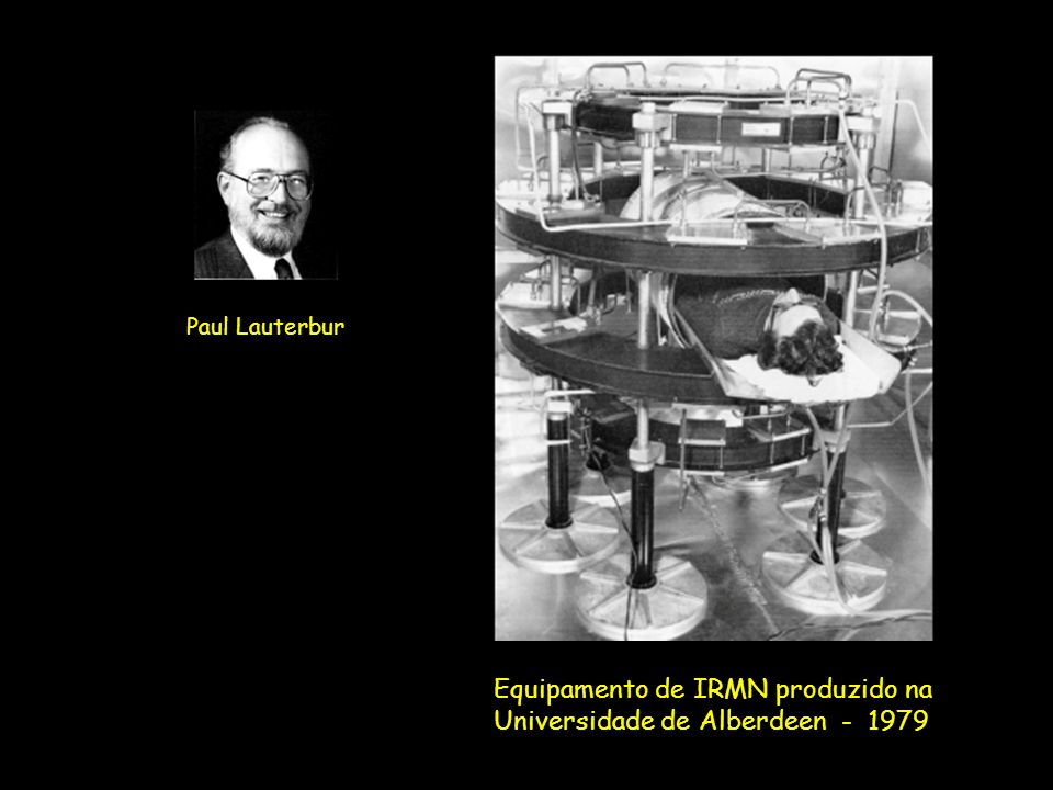 Equipamento de IRMN produzido na Universidade de Alberdeen - 1979