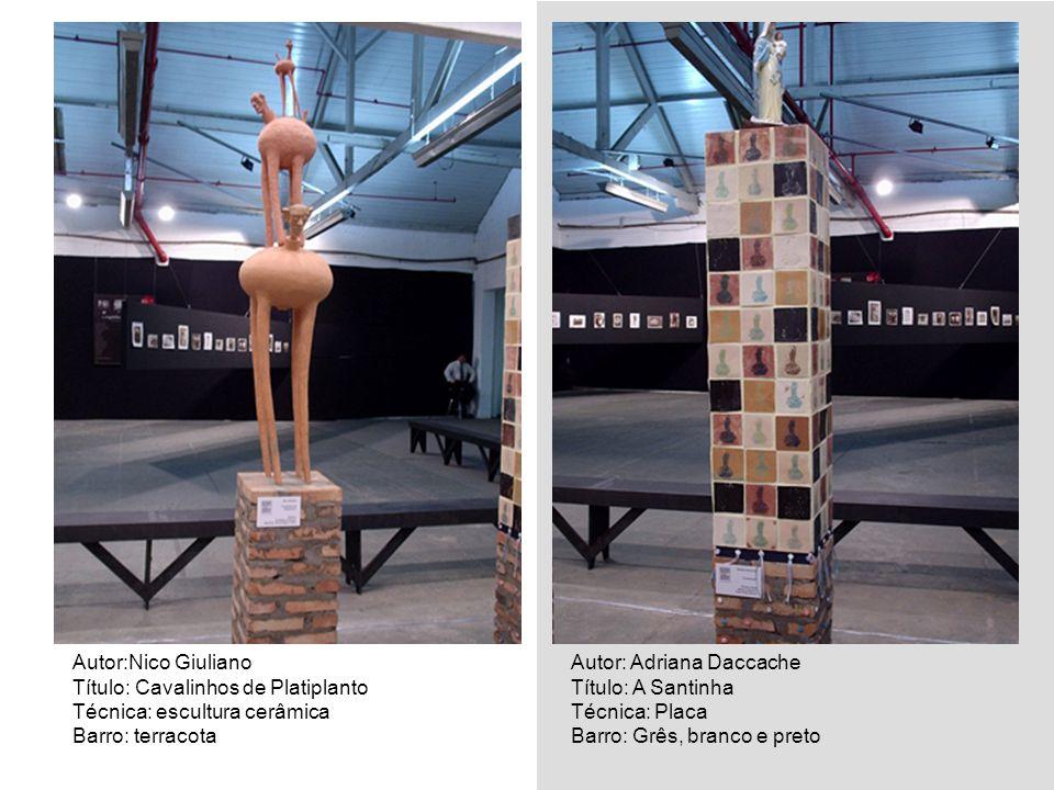 Autor:Nico Giuliano Título: Cavalinhos de Platiplanto. Técnica: escultura cerâmica. Barro: terracota.