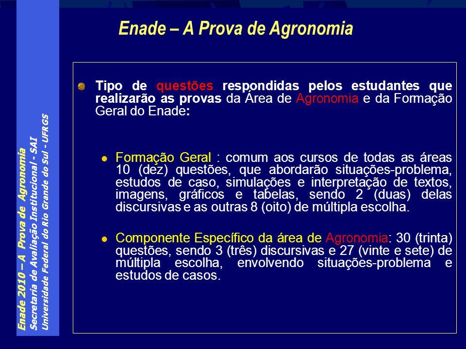 Enade – A Prova de Agronomia