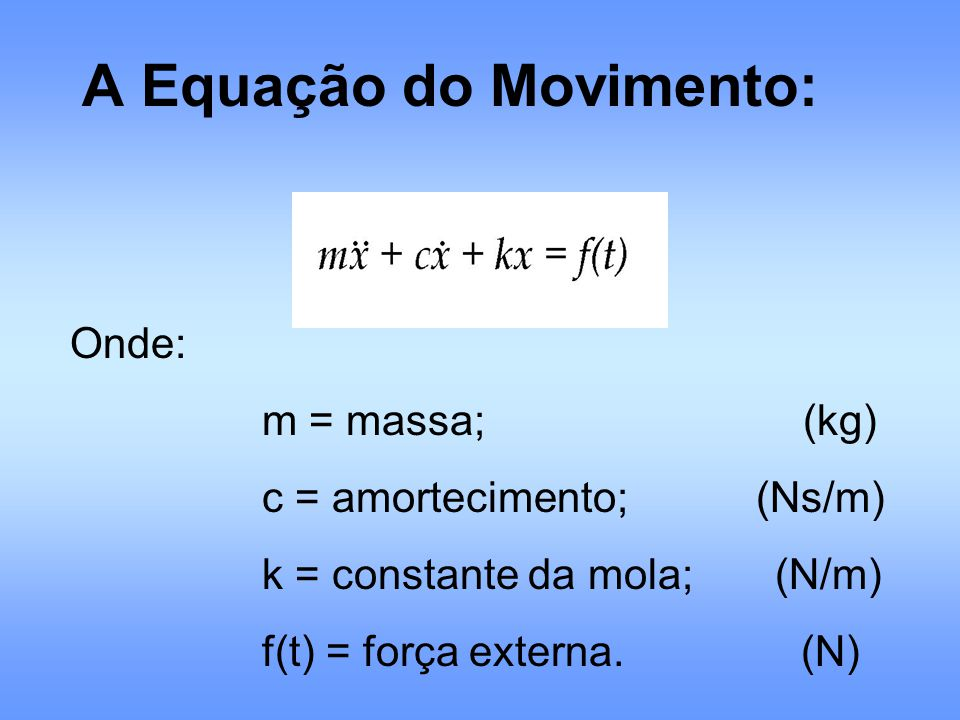 A Equação do Movimento: