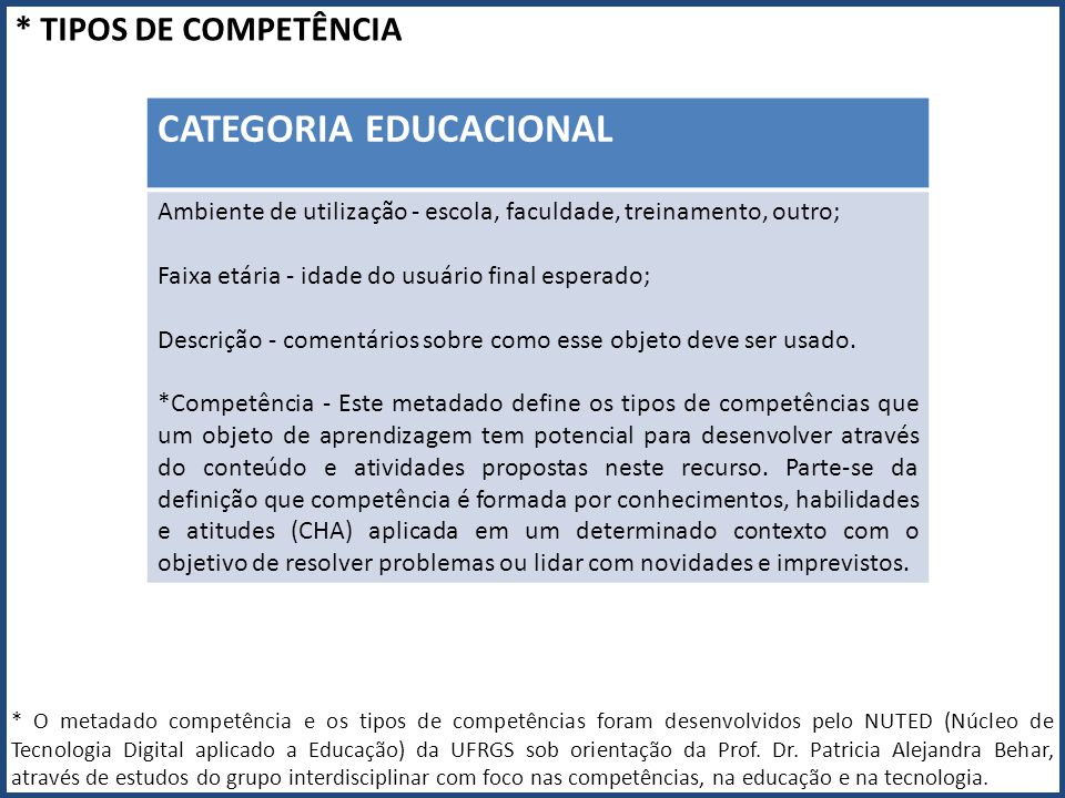 CATEGORIA EDUCACIONAL