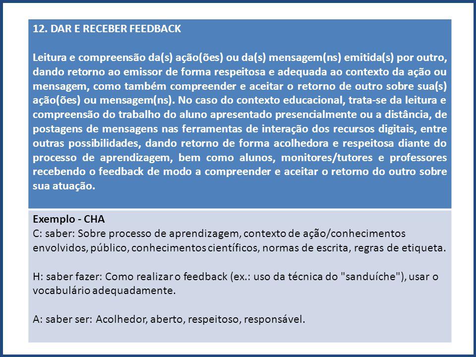 12. DAR E RECEBER FEEDBACK