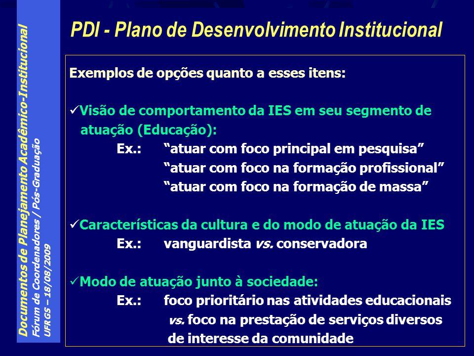 PDI - Plano de Desenvolvimento Institucional