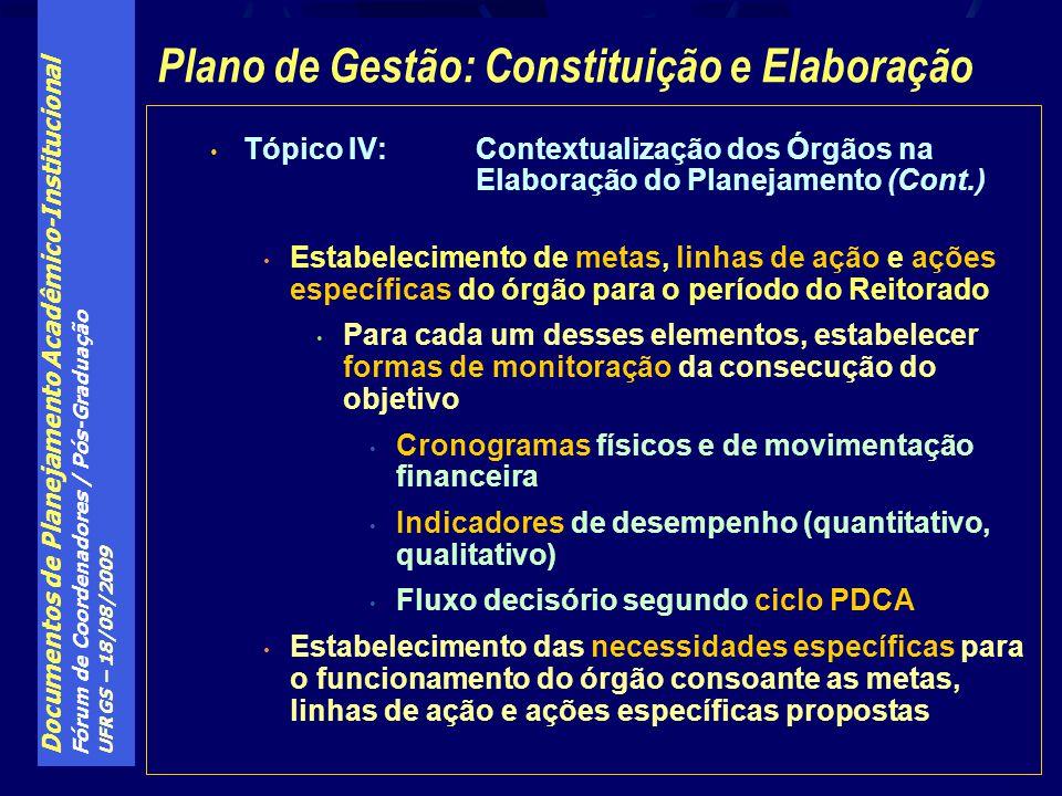 Plano de Gestão: Constituição e Elaboração