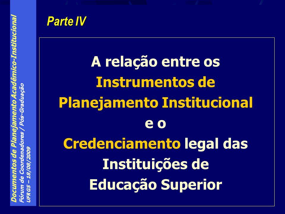 Planejamento Institucional Credenciamento legal das