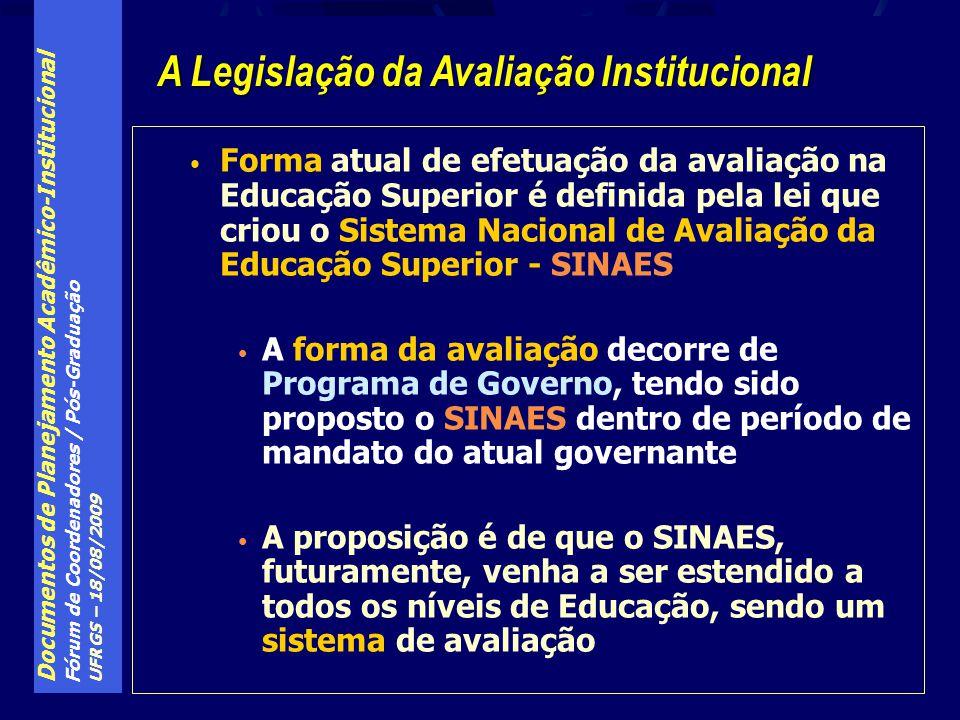 A Legislação da Avaliação Institucional