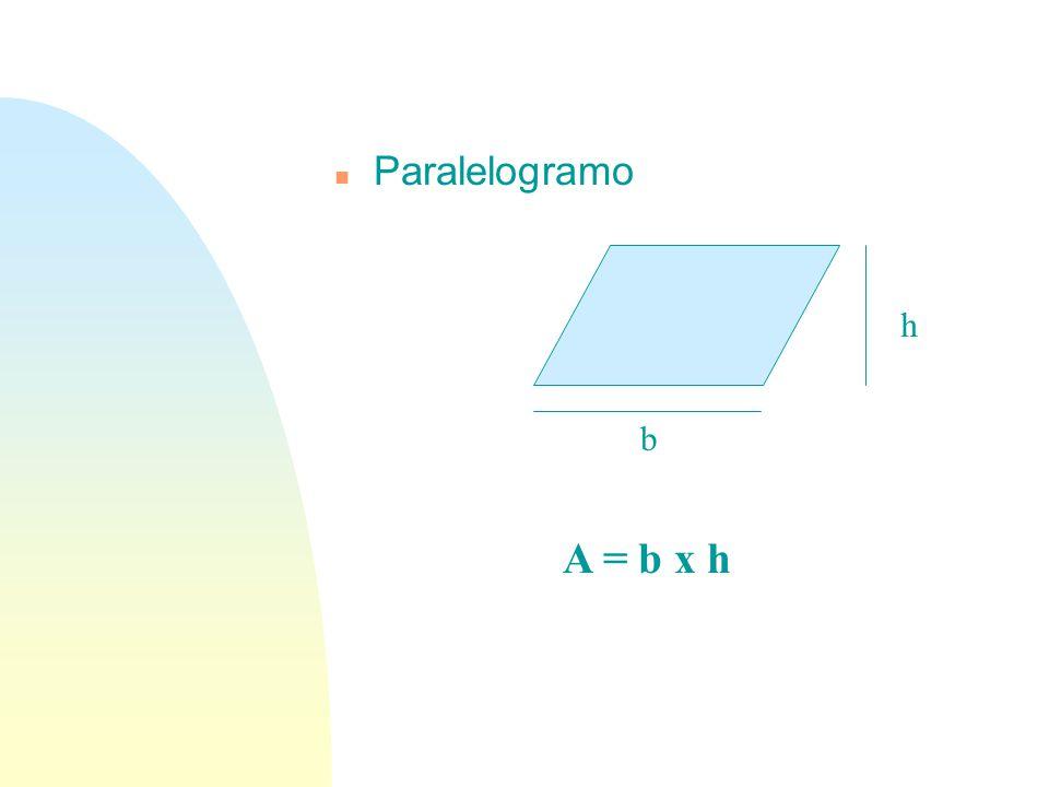 01/04/2017 Paralelogramo h b A = b x h