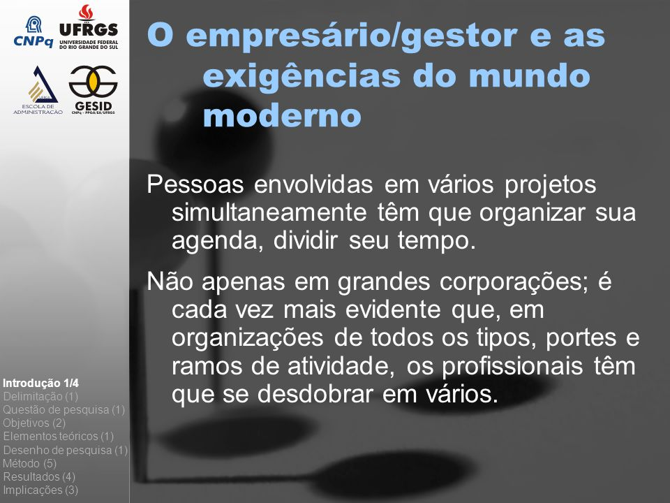 O empresário/gestor e as exigências do mundo moderno