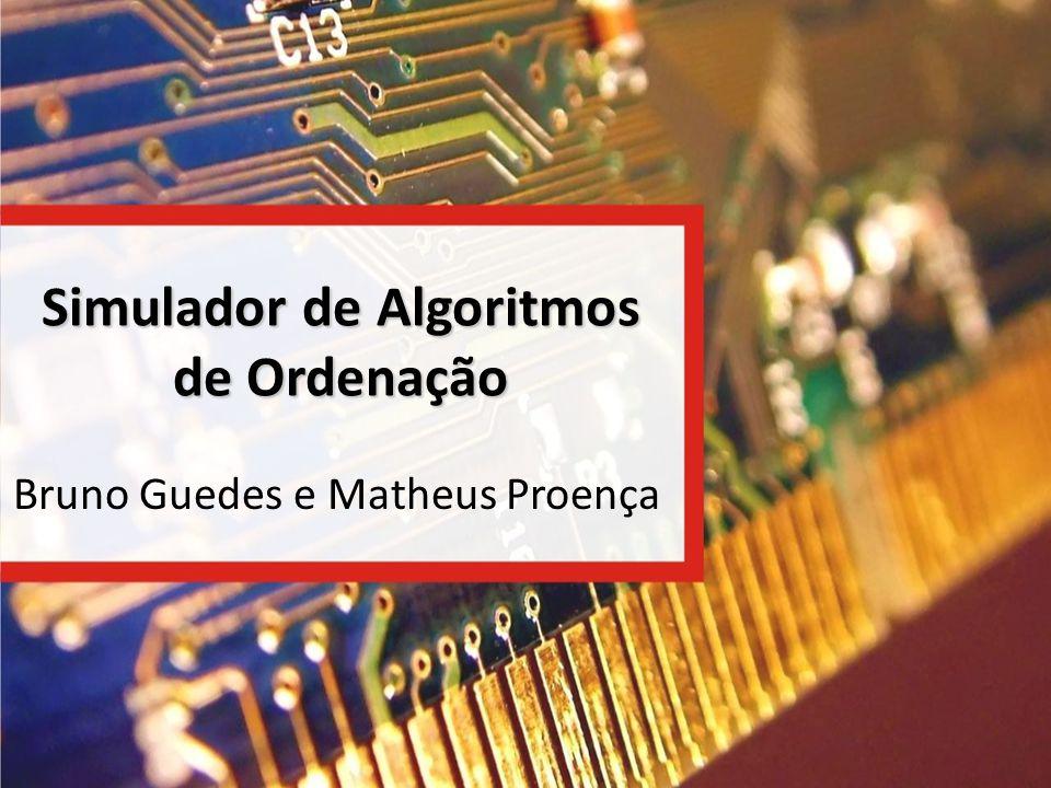 Simulador de Algoritmos de Ordenação
