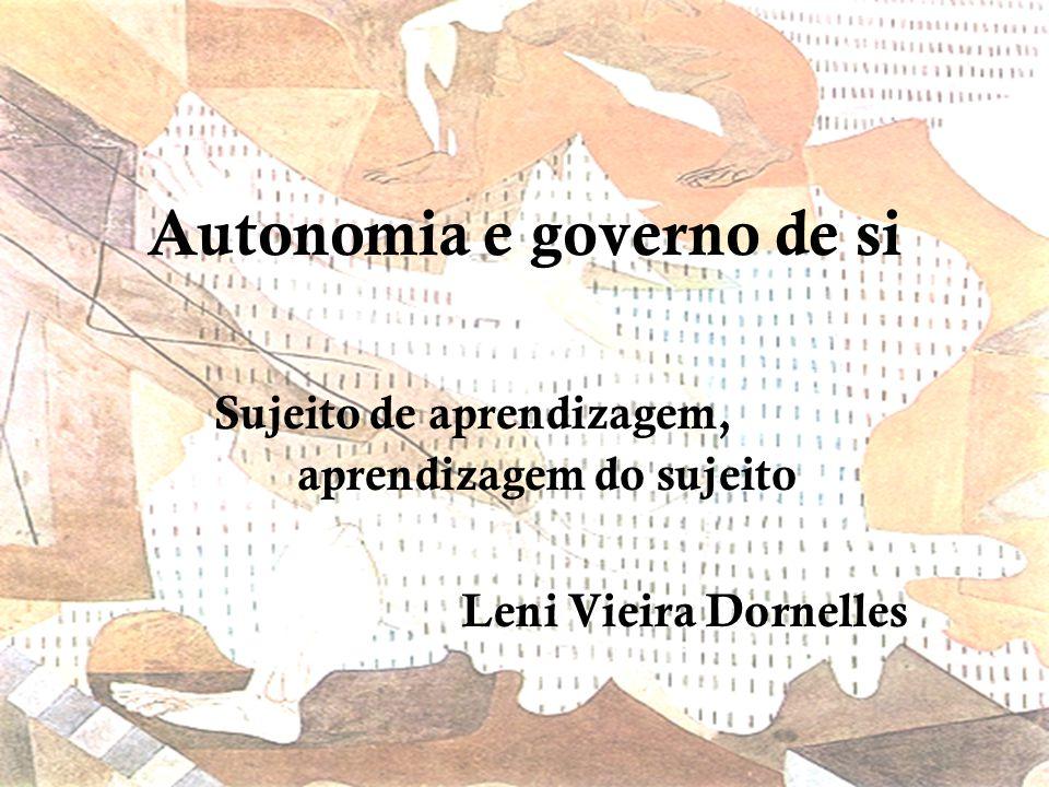 Autonomia e governo de si