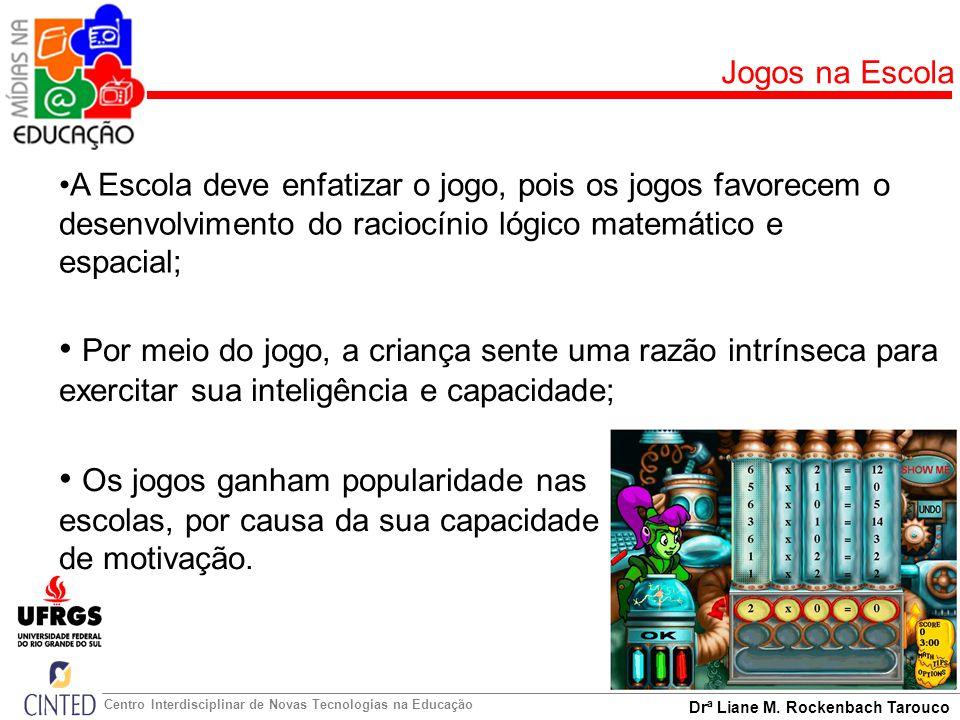 Jogos na Escola A Escola deve enfatizar o jogo, pois os jogos favorecem o desenvolvimento do raciocínio lógico matemático e espacial;
