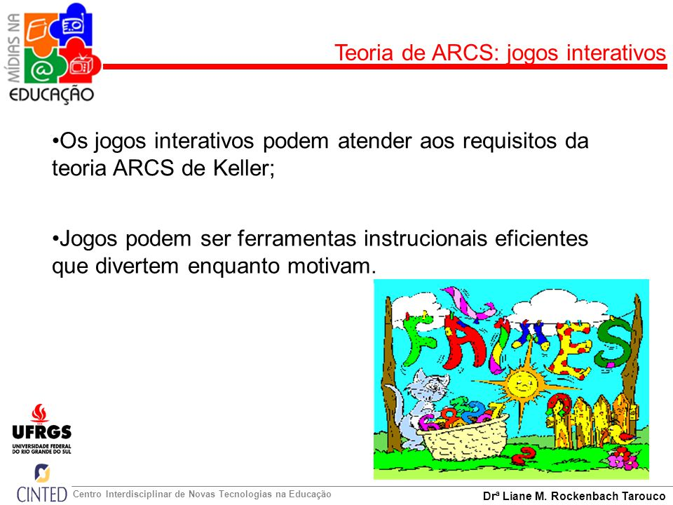 Teoria de ARCS: jogos interativos