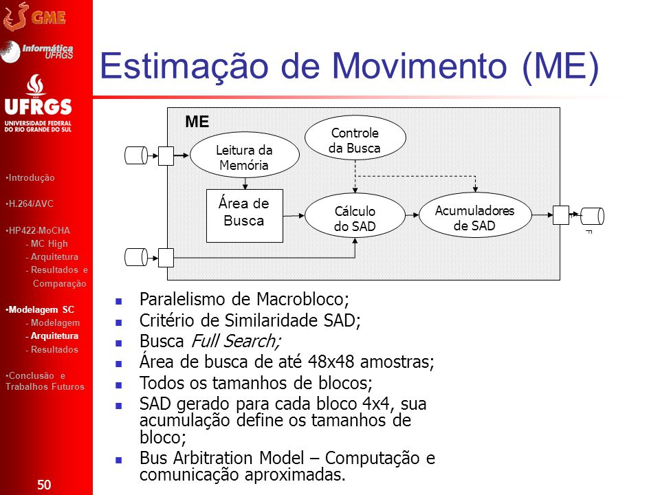 Estimação de Movimento (ME)
