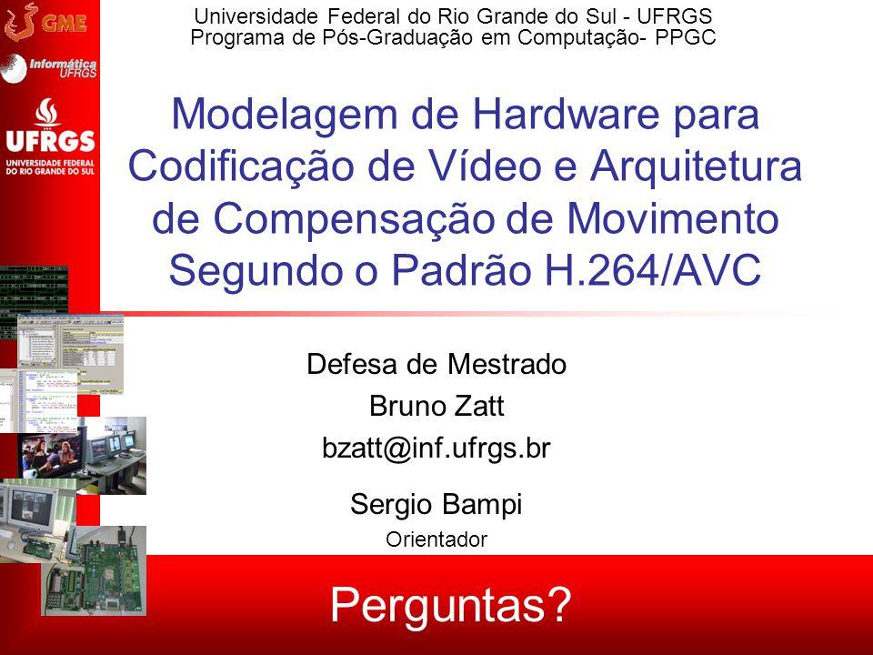 Modelagem de Hardware para Codificação de Vídeo e Arquitetura de Compensação de Movimento Segundo o Padrão H.264/AVC