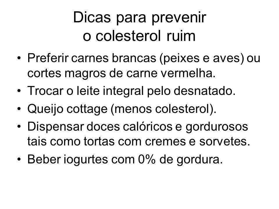 Dicas para prevenir o colesterol ruim