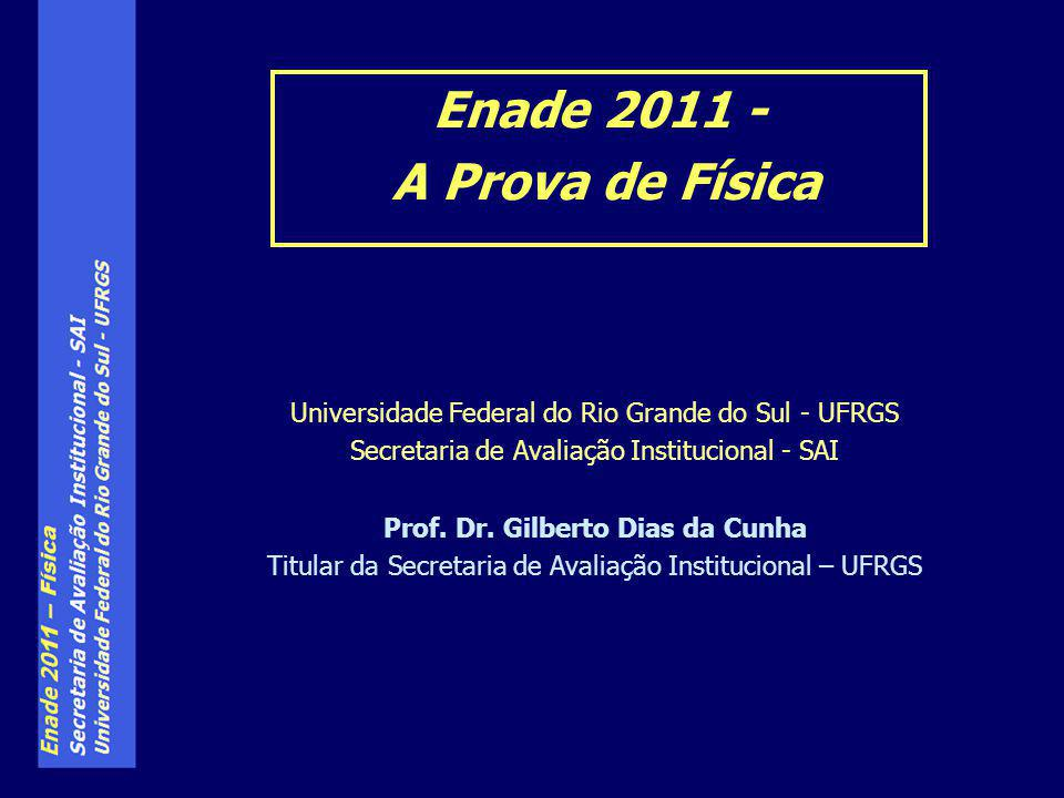 Enade 2011 - A Prova de Física