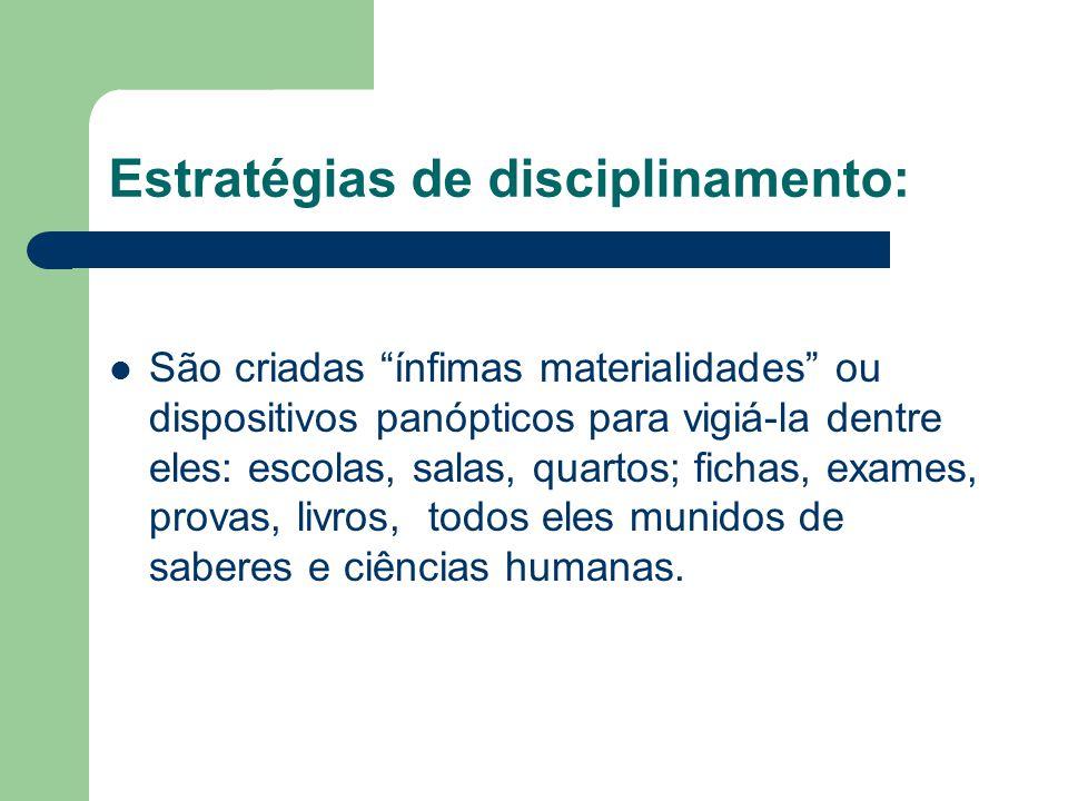 Estratégias de disciplinamento: