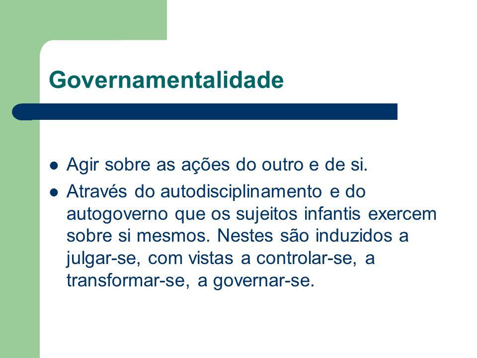 Governamentalidade Agir sobre as ações do outro e de si.