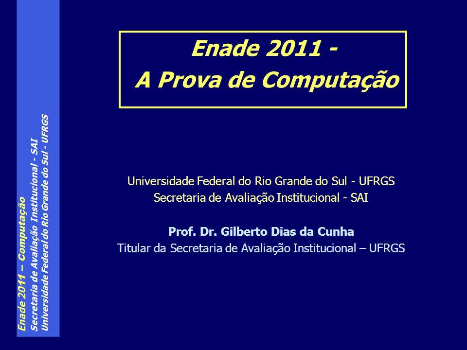 Enade 2011 - A Prova de Computação