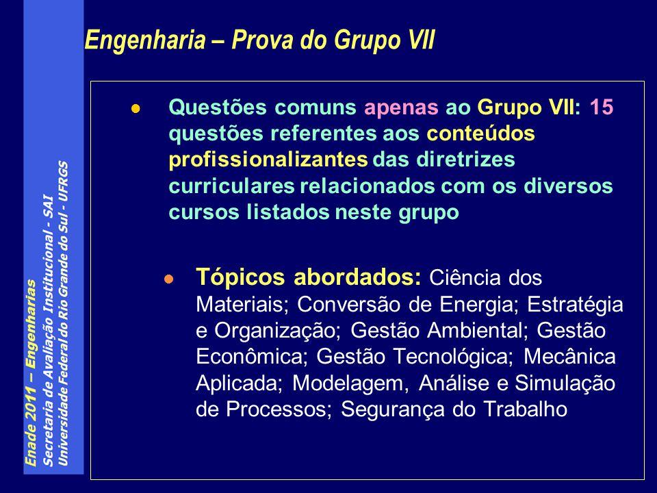 Engenharia – Prova do Grupo VII