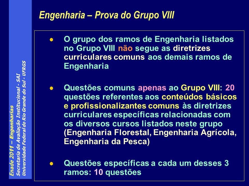 Engenharia – Prova do Grupo VIII