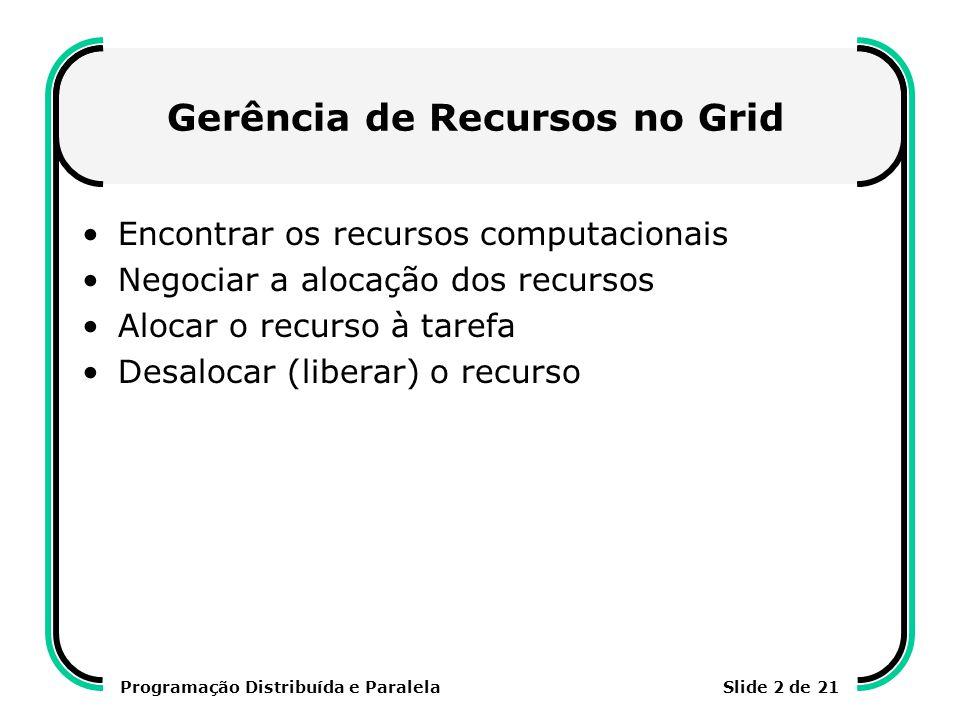 Gerência de Recursos no Grid