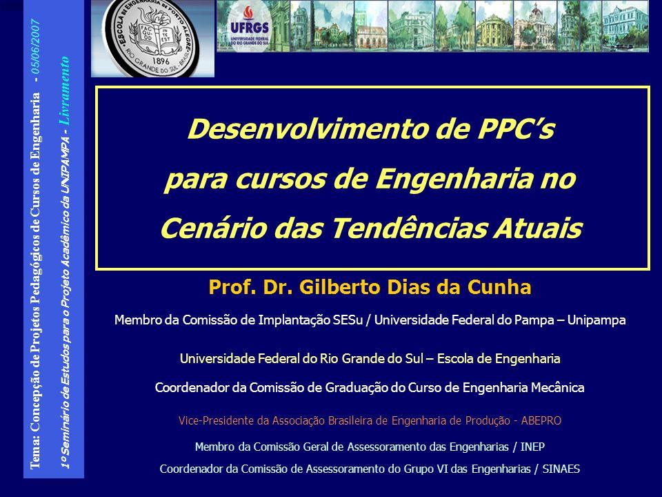 Desenvolvimento de PPC's para cursos de Engenharia no