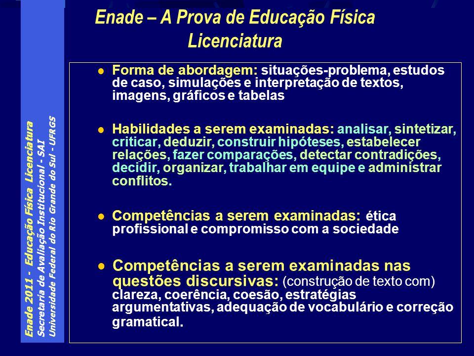 Enade – A Prova de Educação Física Licenciatura