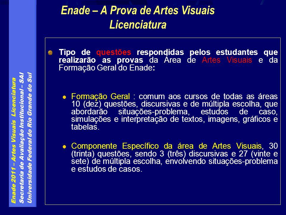 Enade – A Prova de Artes Visuais Licenciatura