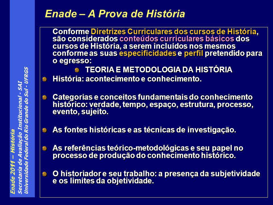 TEORIA E METODOLOGIA DA HISTÓRIA