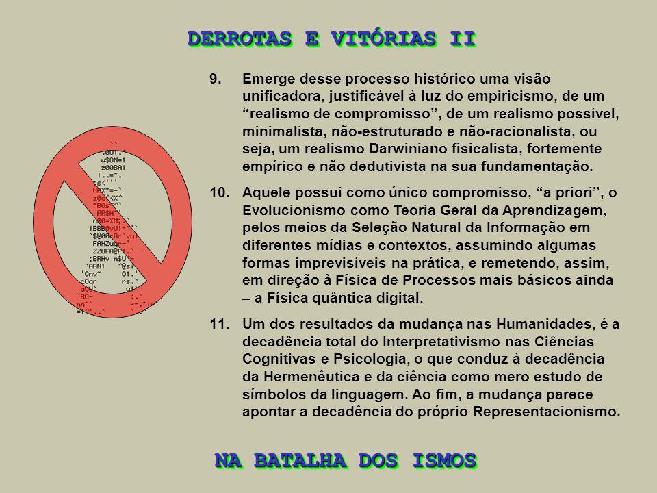 DERROTAS E VITÓRIAS II NA BATALHA DOS ISMOS