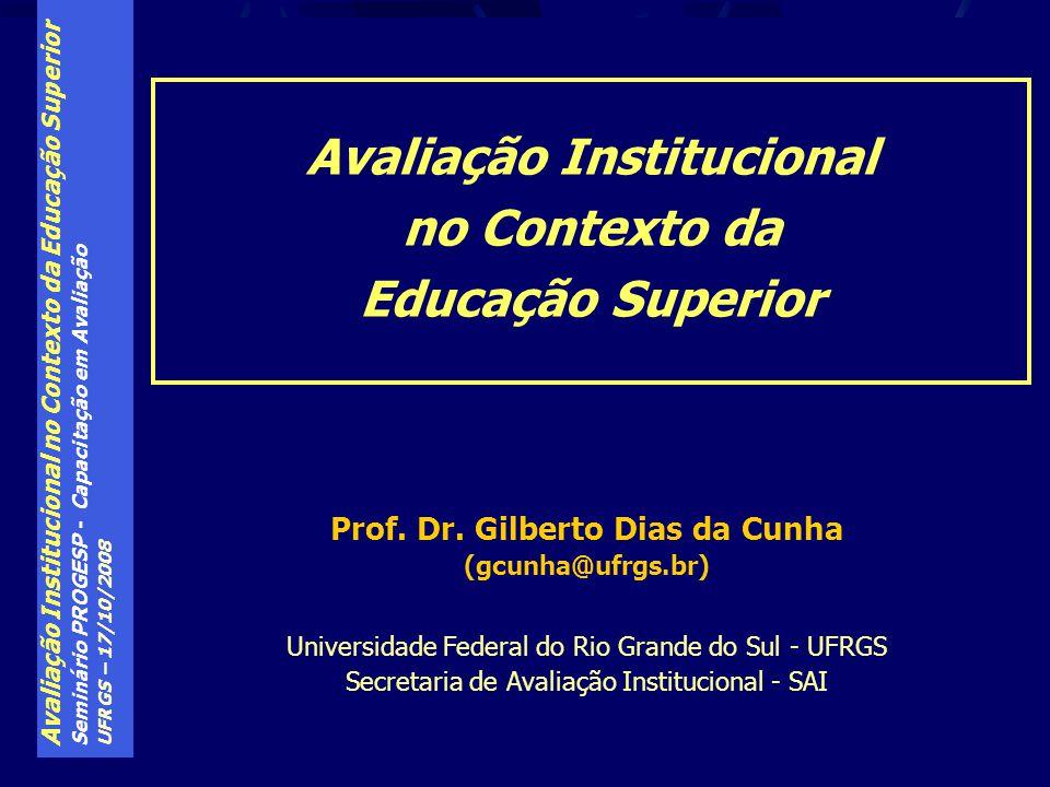 Avaliação Institucional Prof. Dr. Gilberto Dias da Cunha